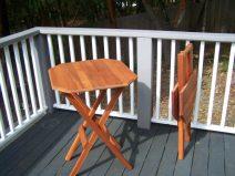 Folding Redwood Camp Table - - redwood furniture