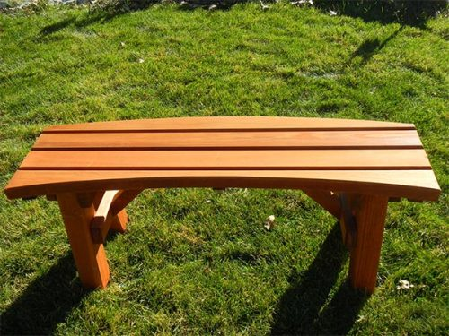 """46"""" Curved Redwood Benches"""