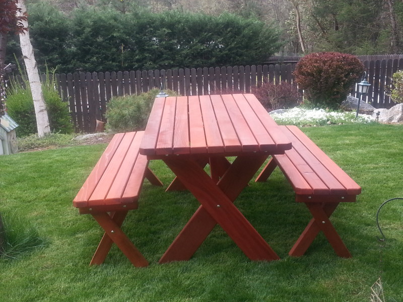 Classic 2×4 Table Set   Gold Hill Redwood Products