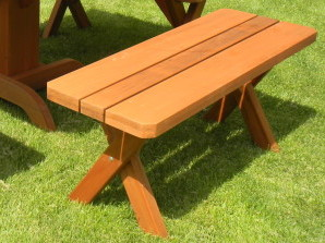 Classic Style Redwood Bench